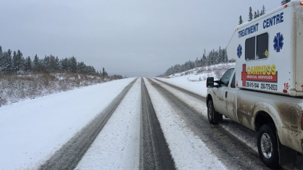 The first snow of the winter fell in northeastern B.C. on Saturday, the same day winter tire rules went into effect.