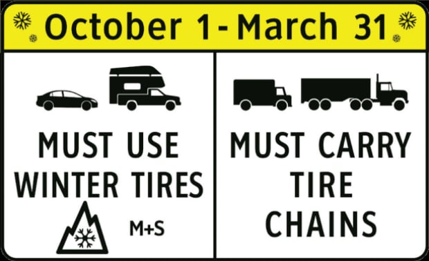 winter tire sign
