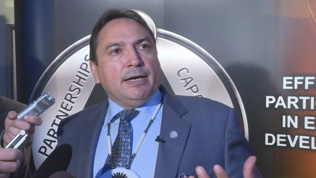"AFN national chief Perry Bellegrade tells reporters his role is to bring opposing First Nations together to reach a compromise on pipeline development. He wants groups to embrace economic opportunities because ""we're tired of being poor."""