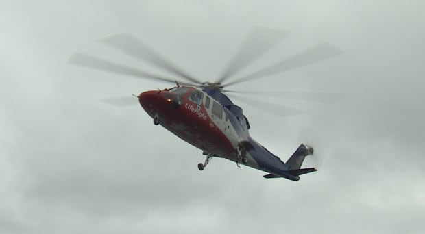 LifeFlight helicopter