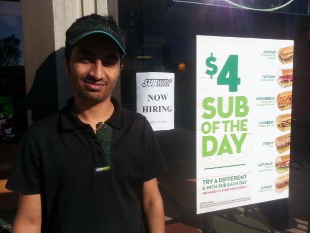 Keyur Morthana earns mimimum wage