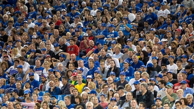 Some spectators were heard yelling racist taunts at Tuesday evening's game in Toronto, but were not asked to leave the Rogers Centre.