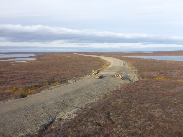 Inuvik-Tuk highway in fall