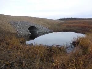 Inuvik-Tuk highway culvert