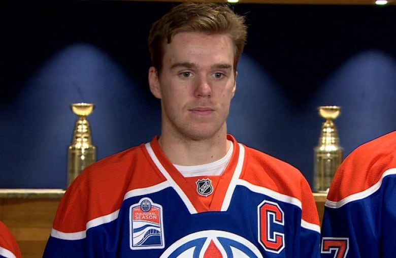quality design e7ea5 a5ed3 Oilers hope new captain McDavid will lead by on-ice example ...