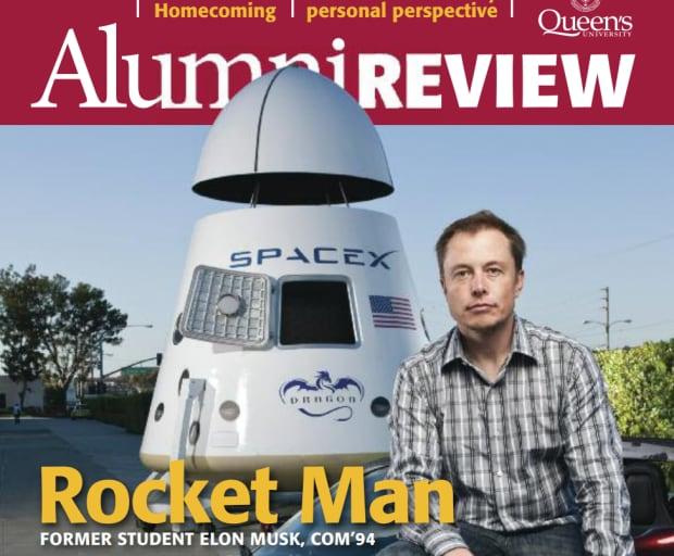 Elon Musk on Queen's Alumni mag