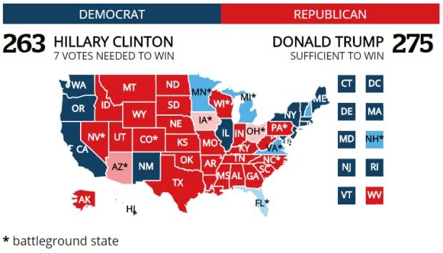 Trump map, no Florida