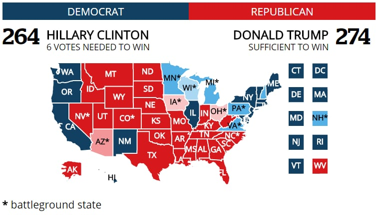 US Election 2016 Trump Victory In Maps BBC News 2020 Presidential