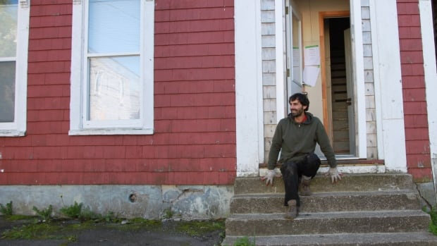 Daniel Gable, 36, a musician and former tree planter, left British Columbia and purchased a house on Victoria Street for $8,000.