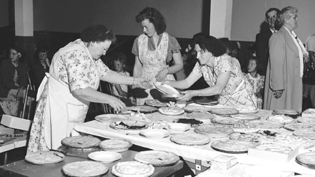 Lots and lots of home-baked pies at the St. Croix Parish annual picnic in 1951.