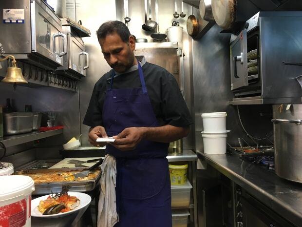Sous chef Kandiah Rajah