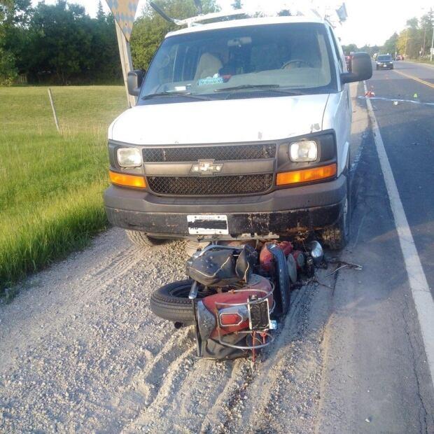 crash scene photo adam bari's motorcycle