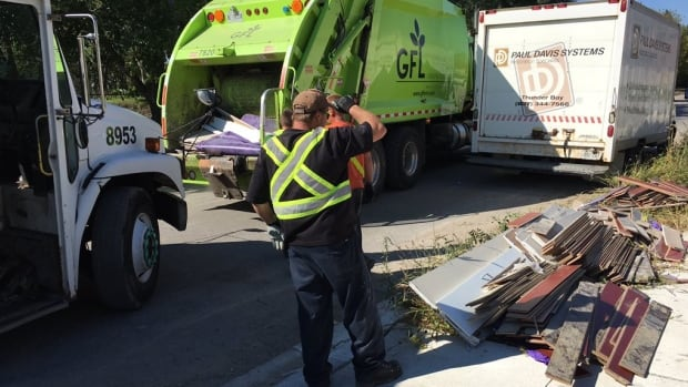 Crews in Windsor collect bulk garbage in late 2016.