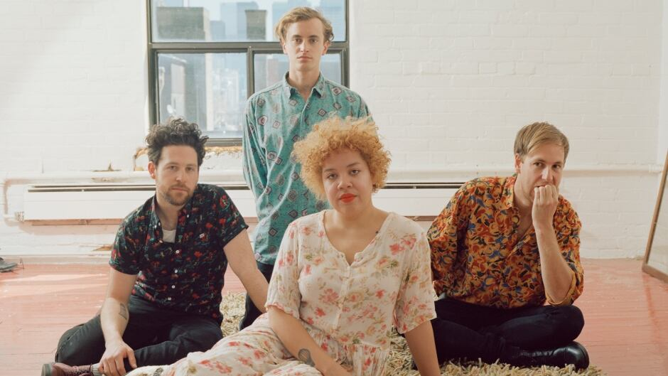 "Toronto indie band Weaves singer Jasmyn Burke (front centre) calls cassettes ""a fun way to listen to music."""