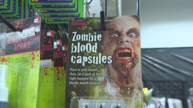 A pop up store selling Halloween themed items is already doing a brisk business, three weeks before Oct. 31.
