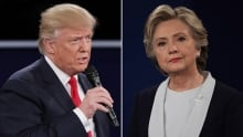 Trump and Clinton debate 2