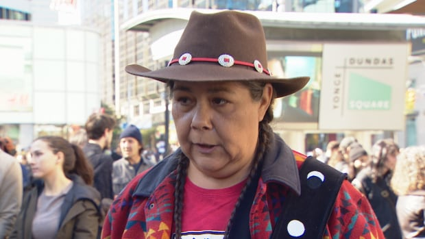 Becky Big Canoe, co-founder of Water is Life: Coalition for Water Justice, says Prime Minister Justin Trudeau has been 'walking backwards' in terms of Indigenous and environmental issues.
