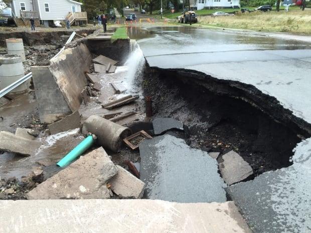 Whitney Ave flood damage