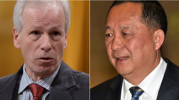 Stéphane Dion, left, Canada's foreign affairs minister, and his North Korean counterpart Ri Yong Ho met briefly in July during a gathering of the Association of Southeast Asian Nations in Laos.