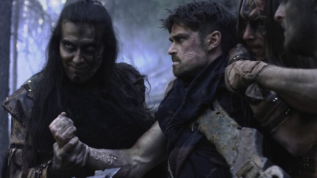 Julian Black Antelope (left) and Corey Sevier in a scene from The Northlander.