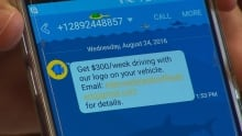 car wrap text message