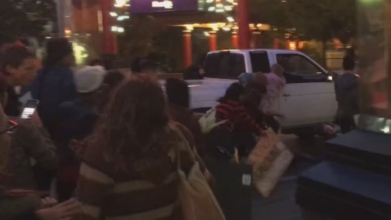Truck plows through Nevada crowd during Columbus Day protest