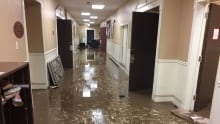 Whitney avenue flood damage