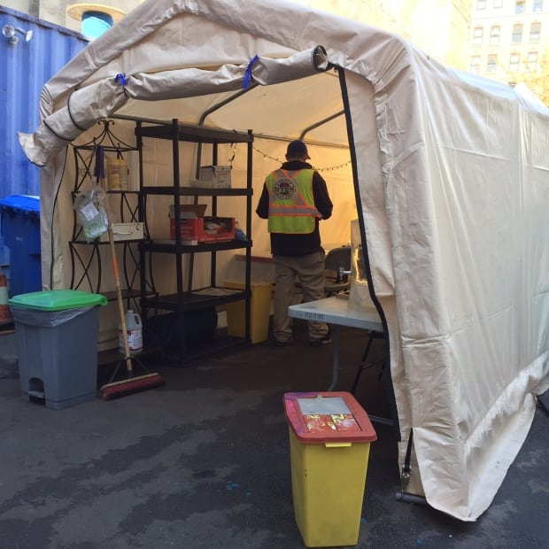 pop up injection site