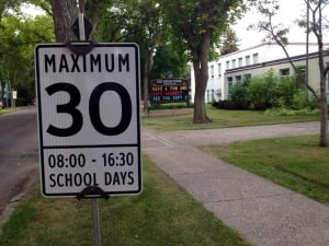 school zone Edmonton