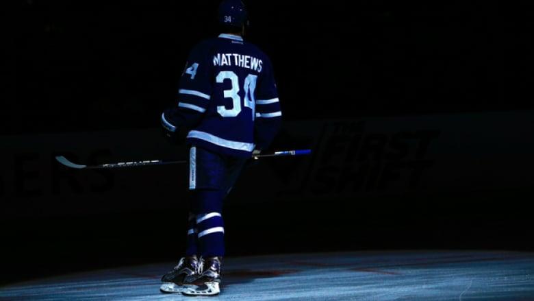 size 40 cc7a1 09d47 Auston Matthews' Maple Leafs jersey (almost) for sale   CBC ...