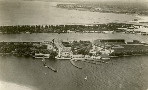 Hanlan's Point Ballpark aerial
