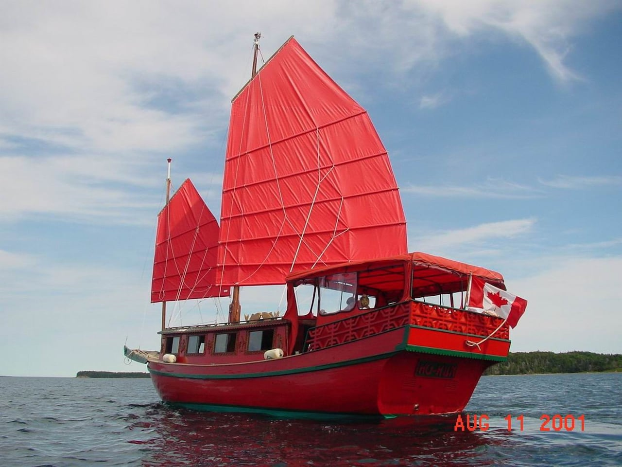 Authentic Chinese junk ready to set sail  CBC News