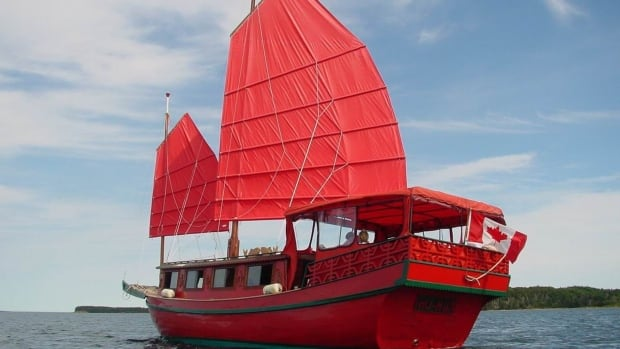 Montague boat builder Monte Gisborne found the authentic Chinese junk sail boat Ho Hum for sale in Chester, N.S., on Kijiji.