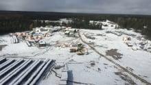 Esker Camp aerial view