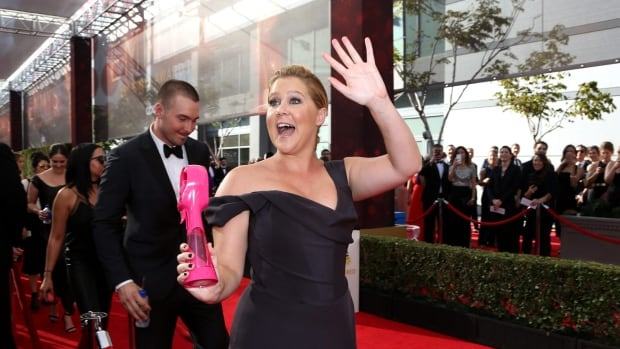 Amy Schumer arrives at the 68th Primetime Emmy Awards on Sunday, Sept. 18, at the Microsoft Theater in Los Angeles.