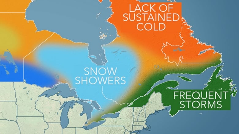 Messy P E I  winter forecast by Accuweather | CBC News
