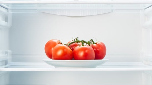 Tomatoes lose some of the flavour in the fridge, scientists say.