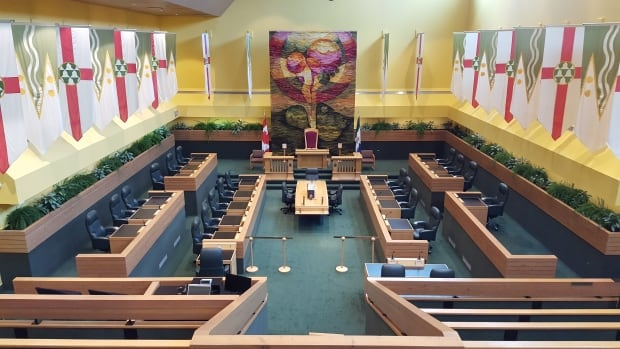 The Yukon legislative assembly in Whitehorse. MLAs will be back in session Thursday afternoon as the spring sitting gets underway.