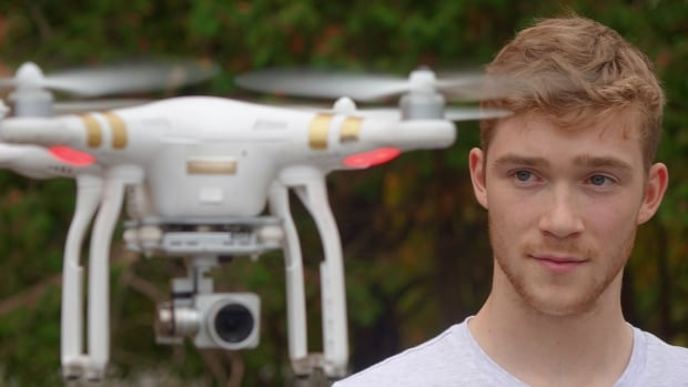 College student Nick Howe says regulations for drone users in Canada sound 'too strict.'