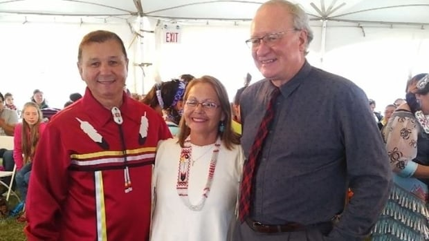 Chief Brian Francis and Chief Matilda Ramjattan welcomed Premier Wade MacLauchlan to a pow wow this past August.