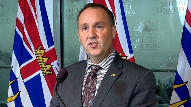 Peace River South MLA Mike Bernier announced Monday that he will seek his party's leadership. He is seen here making an announcement as education minister in 2016.