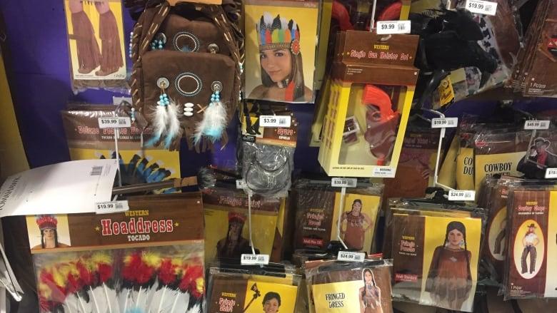 Halloween Shop Displays.Stop Selling Racist Garbage Shop Selling Indigenous Halloween