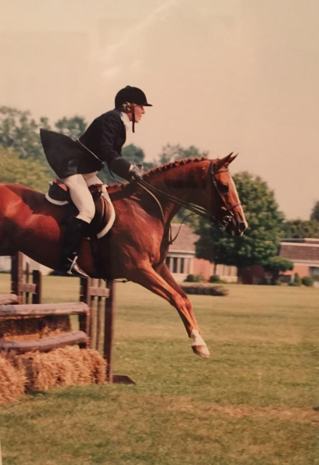 Dinnie in the National Hunter Trials in 1999