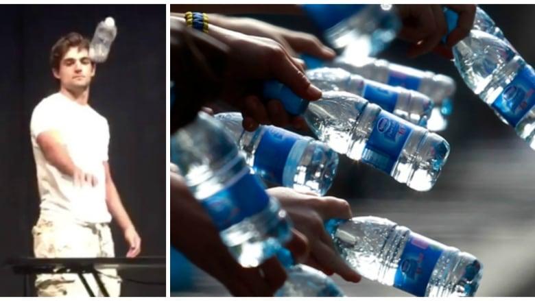 5d0c633d55 Screenshot of Michael Senatore performing the famous bottle flip routine  the sparked an international bottle-flipping challenge phenomenon.