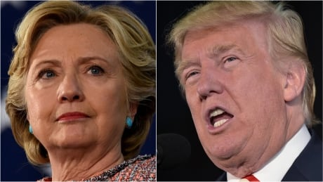 Trump and Clinton composite