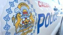 Calgary police car cruiser badge CPS 6155