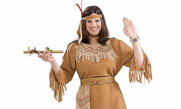 'Native' costume at Spirit Halloween
