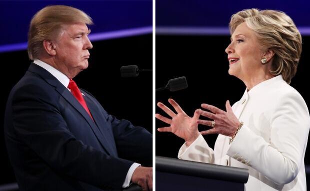 Trump and Clinton debate 3