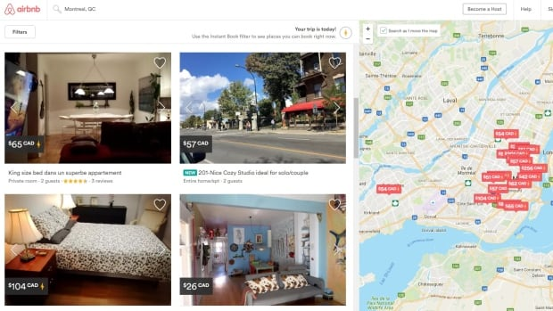 Airbnb, one of the most popular online vacation rental services, shows several apartments available for rent in Montreal. Police are warning Montrealers to beware of potential theft, fraud and vandalism when renting out their apartments.