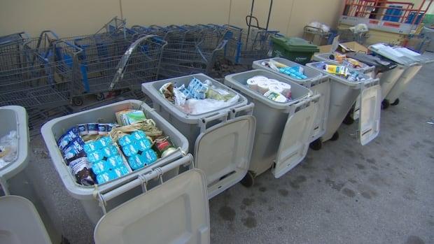 Walmart garbage bins